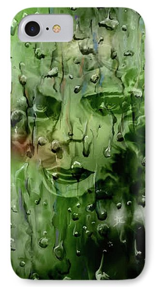 IPhone Case featuring the digital art Memory In The Rain by Darren Cannell