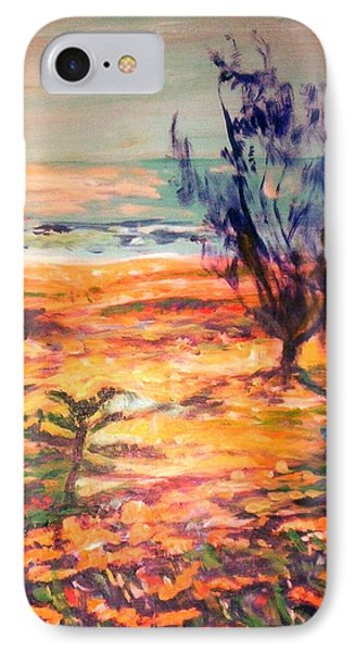 IPhone Case featuring the painting Memory Pandanus by Winsome Gunning