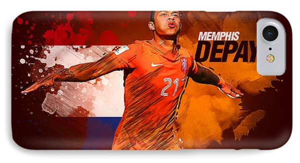 Memphis Depay IPhone Case by Semih Yurdabak