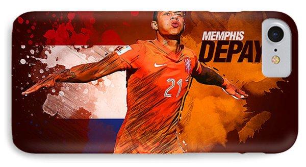 Memphis Depay IPhone 7 Case by Semih Yurdabak