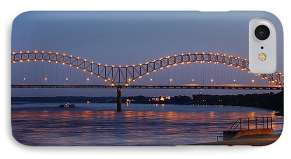 Memphis - I-40 Bridge Over The Mississippi 2 IPhone Case by Barry Jones