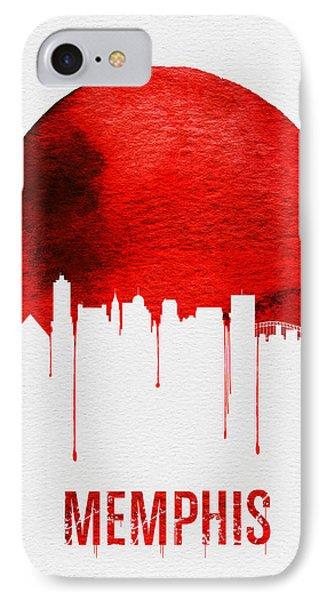 Memphis Skyline Red IPhone Case by Naxart Studio