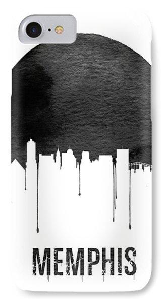 Memphis Skyline White IPhone Case by Naxart Studio