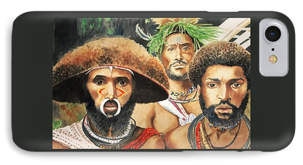 Men From New Guinea Phone Case by Judy Swerlick
