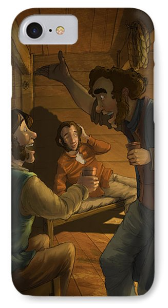 Men In A Hut IPhone Case by Andy Catling