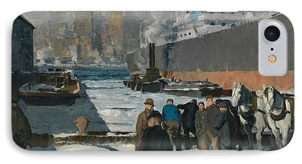 Men Of The Docks IPhone Case by George Bellows