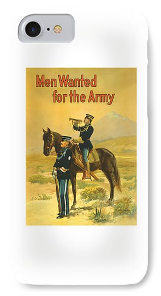 Men Wanted For The Army IPhone Case by War Is Hell Store