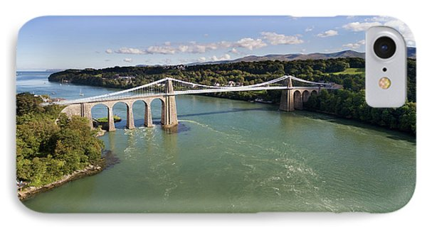 Menai Bridge 1 Phone Case by Steev Stamford