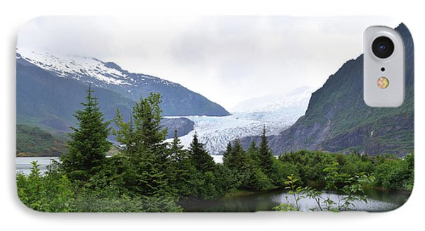 Mendenhall Glacier Juneau Alaska IPhone Case by Barbara Snyder