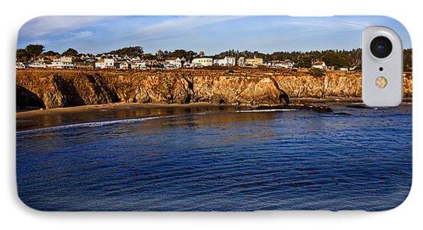 Mendocino Coastal Town IPhone Case by Garry Gay