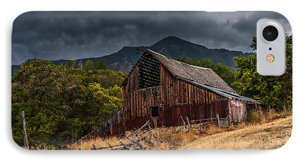 Mendon Utah Barn In Storm Phone Case by Gary Whitton