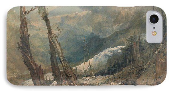 Mer De Glace In The Valley Of Chamouni Switzerland IPhone Case by Joseph Mallord William Turner