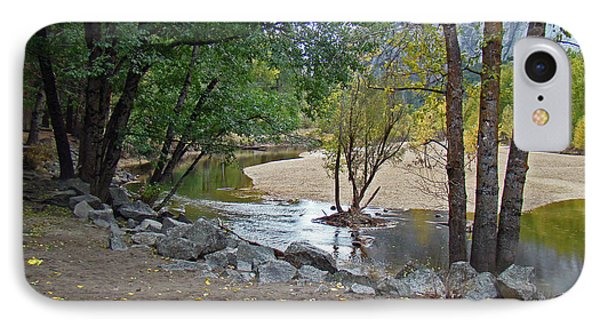 IPhone Case featuring the photograph Merced River Trickle - Fall 2012 by Walter Fahmy