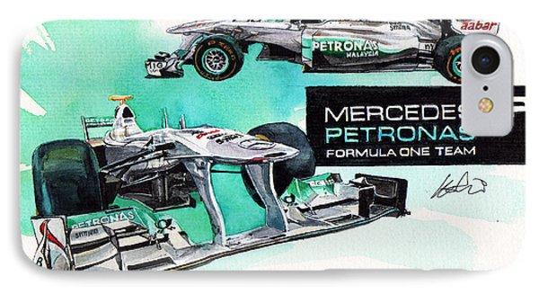 Mercedes Amg Petronas Formula-1 IPhone Case by Yoshiharu Miyakawa
