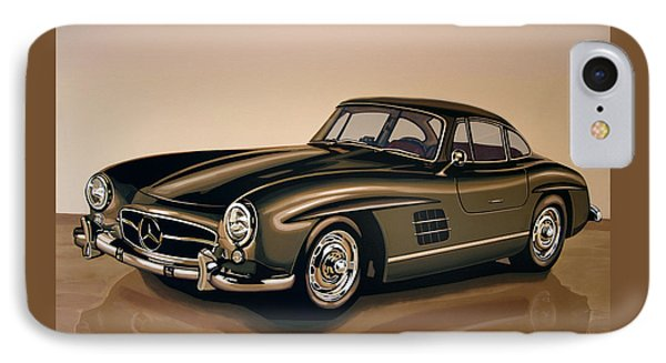 Mercedes Benz 300 Sl 1954 Painting IPhone Case by Paul Meijering