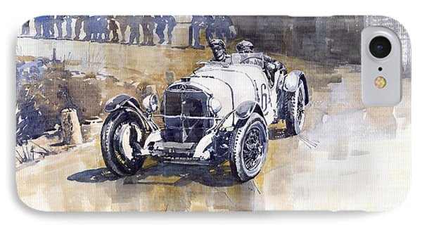 Mercedes Benz Ssk 1930 Rudolf Caracciola IPhone Case by Yuriy  Shevchuk