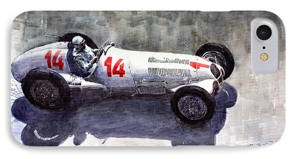Mercedes Benz W 125 1937 Swiss Gp R Caracciola IPhone Case by Yuriy  Shevchuk