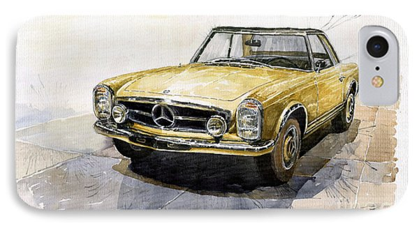 Mercedes Benz W113 Pagoda IPhone 7 Case by Yuriy  Shevchuk