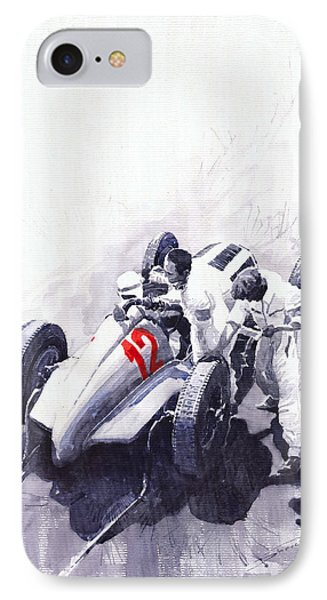 Mercedes Benz W125 Rudolf Caracciola The German Grand Prix Nurburgring 1937  IPhone Case