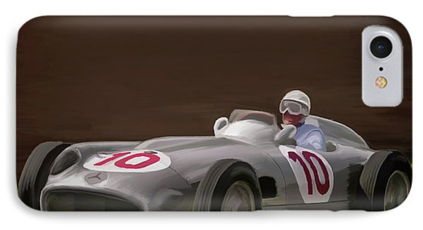 Mercedes-benz W196 Number 10 IPhone Case by Wally Hampton