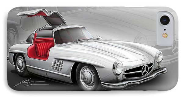 Mercedes Gullwing 300sl 1955 IPhone Case