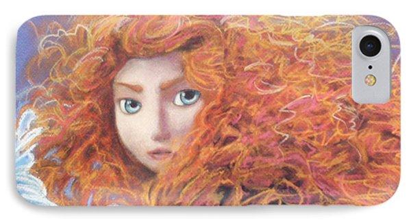 Merida From Pixar's Brave Phone Case by Andrew Fling