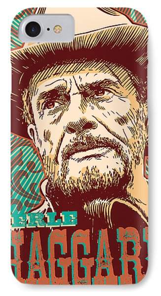 Merle Haggard Pop Art IPhone Case by Jim Zahniser