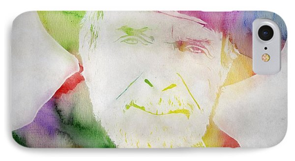 Merle Haggard Watercolor IPhone Case by Dan Sproul