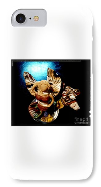 Mermaid Angel With Trigger IPhone Case by Kirk Wieland