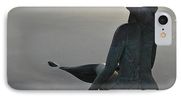 Mermaid Bronze Statue In The Faro Marina IPhone Case by Angelo DeVal