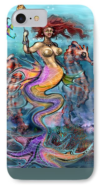 IPhone Case featuring the painting Mermaid by Kevin Middleton
