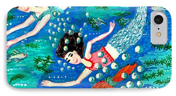 Mermaid Race Phone Case by Sushila Burgess