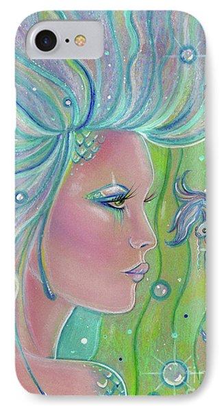 Mermaid Warrior IPhone Case by Renee Lavoie