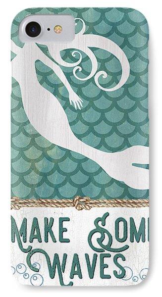 Seahorse iPhone 7 Case - Mermaid Waves 1 by Debbie DeWitt