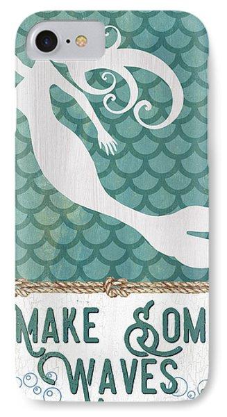 Fairy iPhone 7 Case - Mermaid Waves 1 by Debbie DeWitt