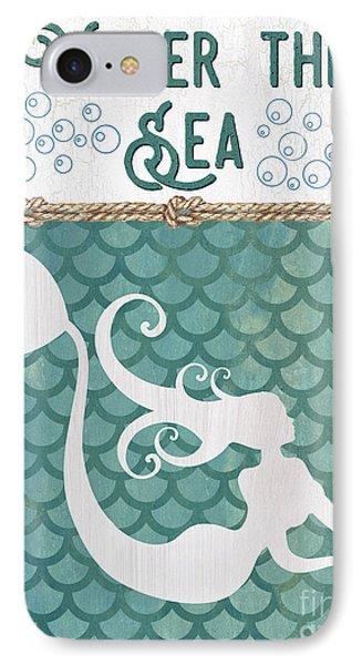 Seahorse iPhone 7 Case - Mermaid Waves 2 by Debbie DeWitt