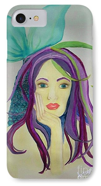 Mermaid With Mardis Gras Hair IPhone Case by ARTography by Pamela Smale Williams