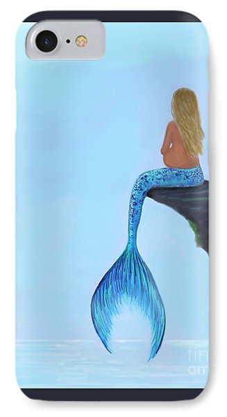 IPhone Case featuring the painting Mermaids Bundle To Be by Leslie Allen