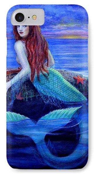 Mermaid's Dinner Phone Case by Sue Halstenberg