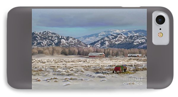 Merry Christmas From Wyoming IPhone Case