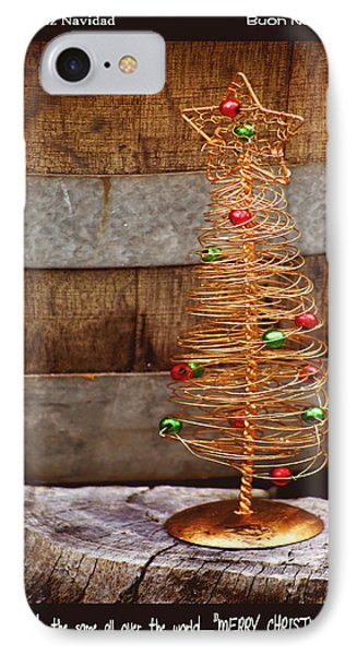 Merry Christmas Phone Case by Holly Kempe