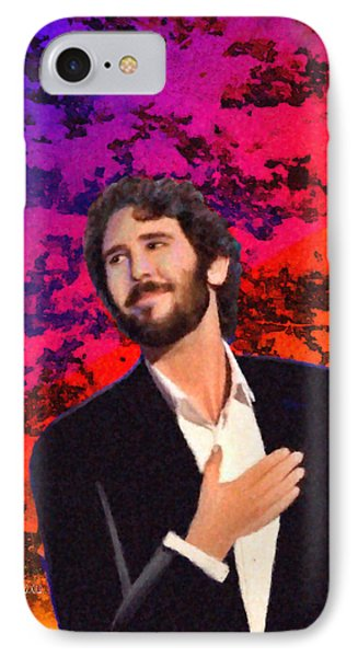 Merry Christmas Josh Groban Phone Case by Angela A Stanton