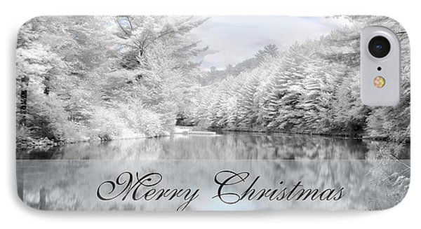 Merry Christmas - Lykens Reservoir IPhone Case by Lori Deiter