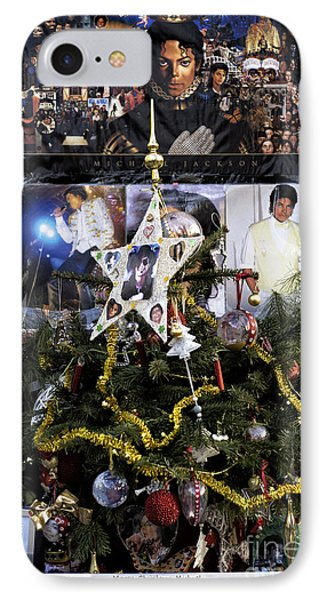Merry Christmas Michael Jackson IPhone Case by John Rizzuto