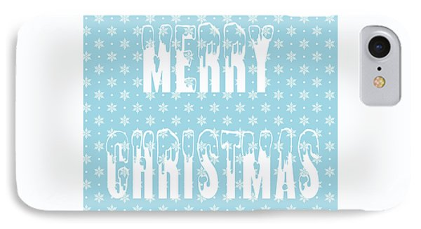 Merry Christmas Pillow IPhone Case by Edward Fielding