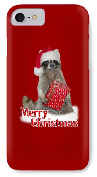 Merry Christmas -  Raccoon IPhone Case by Gravityx9 Designs