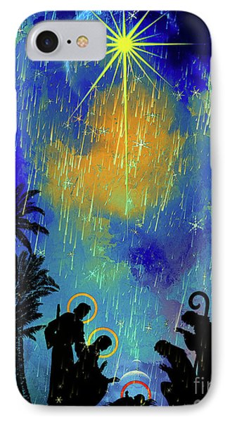 IPhone Case featuring the painting  Merry Christmas To All. by Andrzej Szczerski