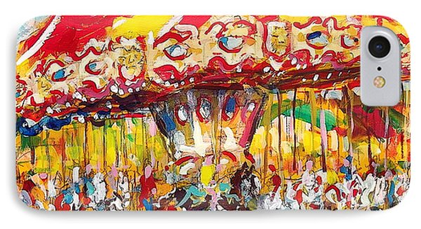 IPhone Case featuring the painting Merry-go-round by Les Leffingwell