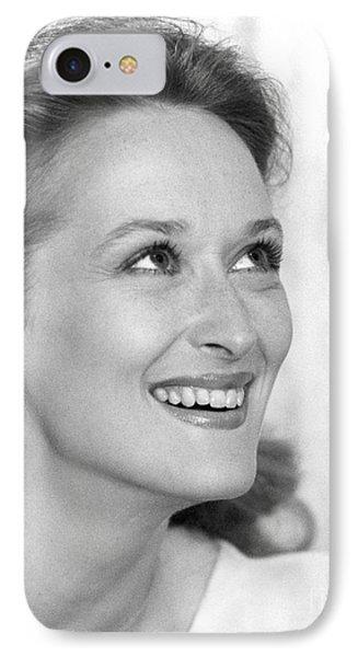 Meryl Streep (b.1949) Phone Case by Granger