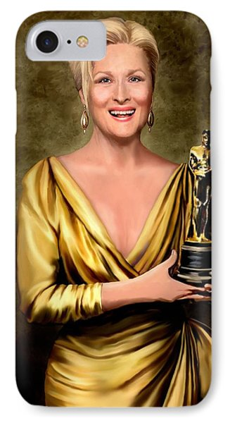Meryl Streep Winner IPhone Case by Jann Paxton